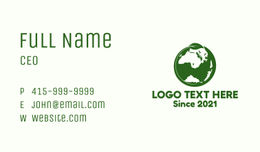 Nature Green Earth Business Card