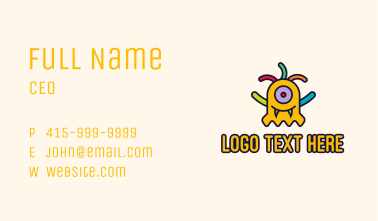 Yellow Monster Puppet Business Card