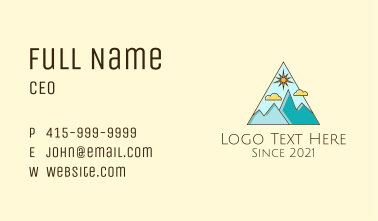 Outdoor Mountaineering Travel Business Card