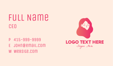 Pink Hairstyling Salon  Business Card