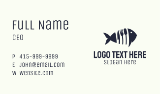 Blue Tuna Utensils  Business Card