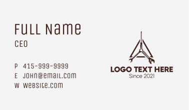 Mechanical Tools Triangle Business Card