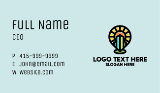 Community City Pin Business Card