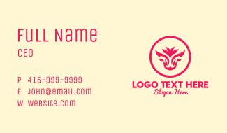 Feminine Bull Head Business Card