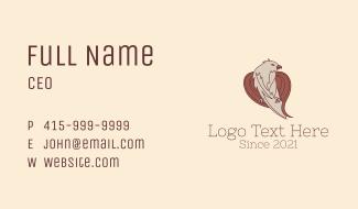 Wild Eagle Aviary  Business Card