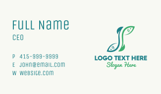 Fish Letter S Business Card