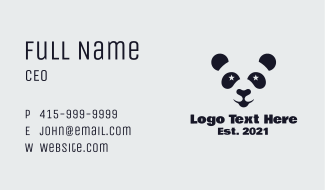 Star Panda Mascot Business Card