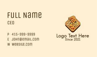 Puzzle Pizza Food  Business Card