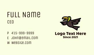 Flying Toucan Bird Business Card