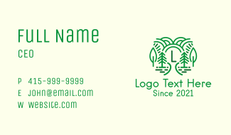 Outdoor Forest Letter Business Card