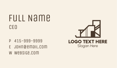 Modern Contemporary Mansion Business Card