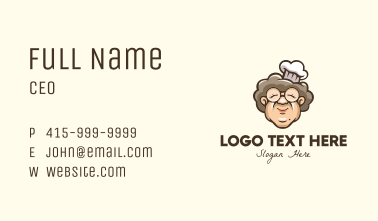 Grandmother Chef Cook Business Card