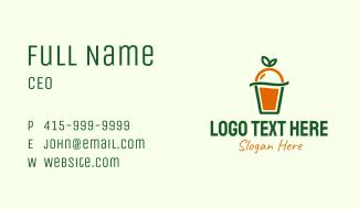 Orange Juice Cup Business Card