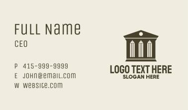 Pencil Law Building Business Card