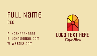 Stained Glass Religious Business Card