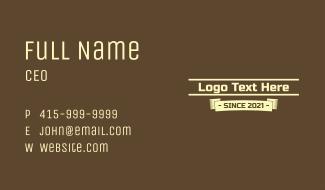 Coffee Banner Wordmark Business Card