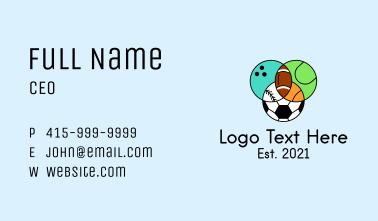 Sports Tournament Balls Business Card