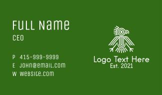 Aztec Bird Symbol  Business Card