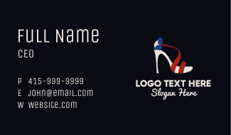 Patriotic Sandal Business Card