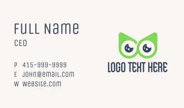Owl Location Pin  Business Card