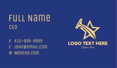 Gold Star Squeegee  Business Card