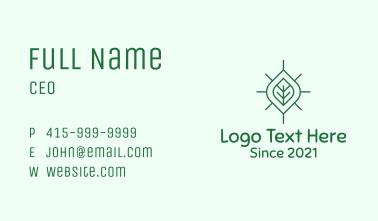 Simple Organic Leaf Business Card