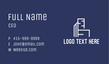 Modern Building Construction Business Card