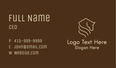 Horse Stable House  Business Card