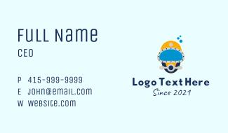 Scuba Diving Helmet Business Card