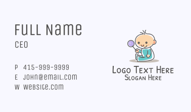 Cute Baby Mascot Business Card
