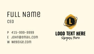 Grunge Lemonade Stall Letter Business Card