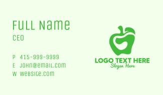 Green Organic Apple Business Card
