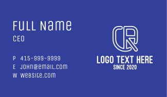 Abstract Corporate Shield CR Business Card