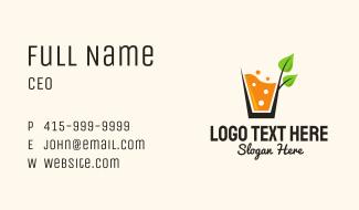 Organic Sparkling Orange Drink Business Card