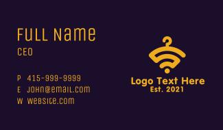 Yellow Hanger Wi-Fi Business Card