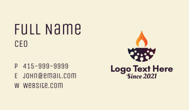 Spa Oil Lamp  Business Card