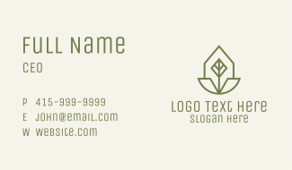 Geometric Leaf Badge Business Card