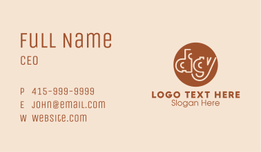 Brown Circle Digy Business Card