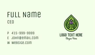 Organic Flower Leaf Business Card