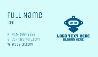 Blue Cute Robot Business Card