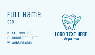 Herbal Dentist Clinic Business Card