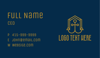 Gold Anchor House  Business Card