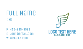Musical Note Wing Business Card