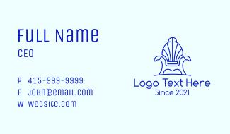 Seashell Armchair Furniture Business Card