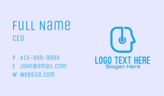 Tech Support Person Business Card