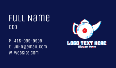Glitchy Kettle CD Player Business Card