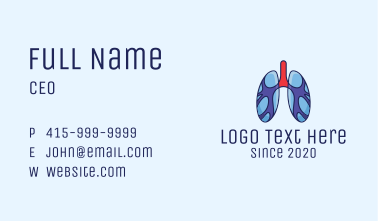 Respiratory Lung Organ Business Card