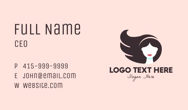 girlfriend - Beauty Hair Stylist  Business card horizontal design