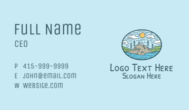 Cliff Tent Camp Business Card