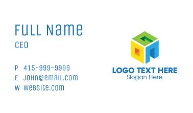3D Multicolor Cube OGN Business Card